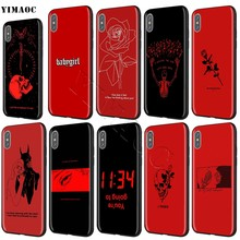 YIMAOC Rode Doodles Esthetiek Quotes Zachte Siliconen Case voor iPhone 11 Pro XS Max XR X 8 7 6 6S Plus 5 5s se(China)