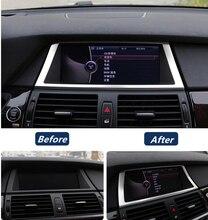In Acciaio Inox frame di Navigazione copertura decorazione assetto per BMW X5 X6 E70 E71 Car styling accessori interni