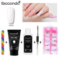 Poly Gel Kit Nail Builder Gel Varnish Polish Polygel Quick Nail Extension Hard Gel UV Lacquer Slip Solution Nail Art Set