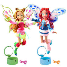 Lovix Fairy Winx Club Doll rainbow colorful girl Action Figures Fairy Bloom Dolls with Classic Toys For Girl Gift(China)