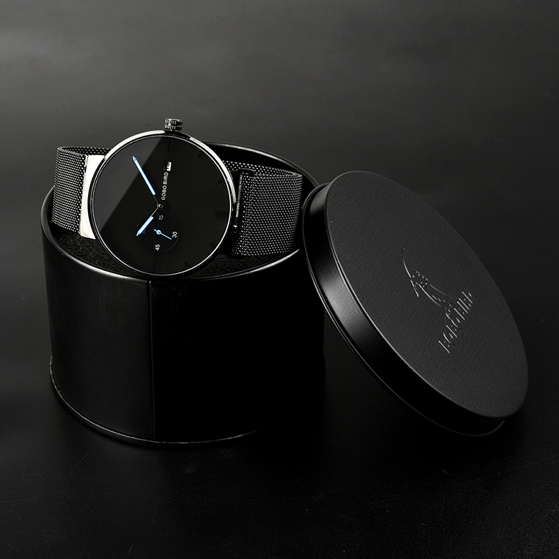 Image 5 - relogio masculino BOBO BIRD Men Watch Luxury Stainless Steel Date Display Quartz Watches Women Gifts Accept LOGO Drop ShippingQuartz Watches   -