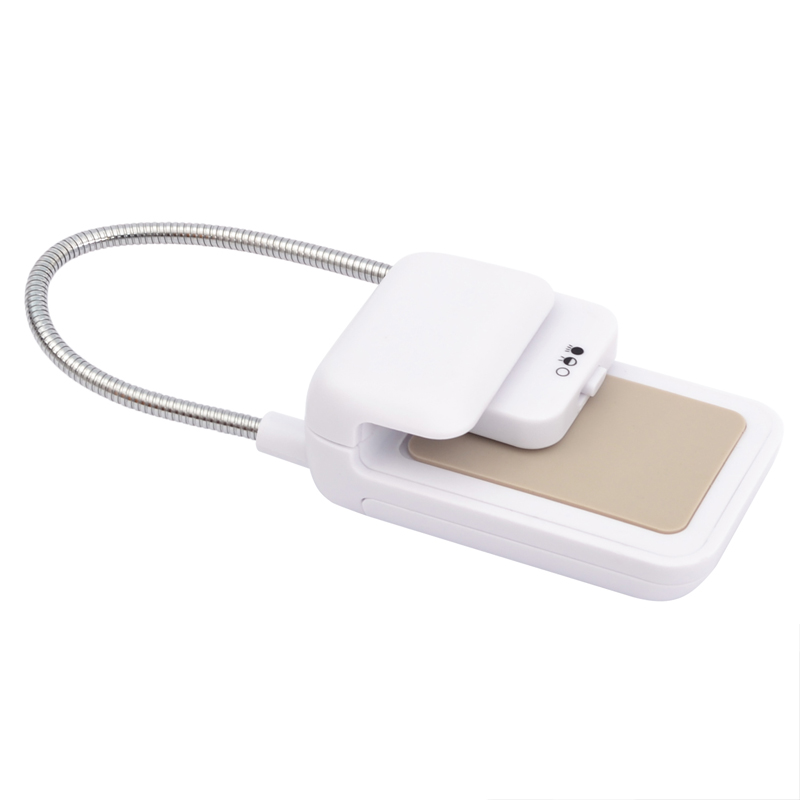 White other e-Readers TFY Clip-on LED Reading Light with 2 Levels of Lumen Intensity for Kindle Tablets Books Plus Bonus Hand Strap Holder for 6 inch Kindle e-readers
