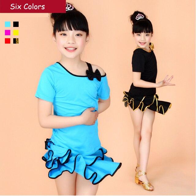 b34d01ac694a Girl Kids Samba Carnival Costumes Children Dance Sport Dresses Rumba ...