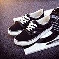 Alta Calidad Al Por Menor de La Nueva Venta de Las Mujeres zapatos de Los Planos de Las Mujeres de Lona Atan Para Arriba ocasional Respirable zapatos superstar zapatos size35-42