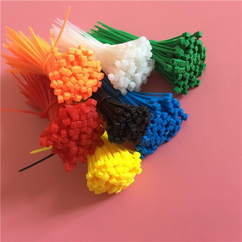 Xingo 100mm Self Locking Nylon Cable Zip Ties 100pcs Plastic Colored Cable  Zip Tie 18 Lbs UL Rohs Approved Loop Wrap BundleTies