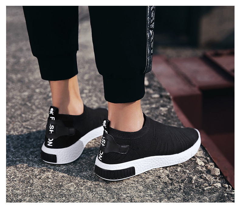 HTB1DhqyzeuSBuNjSsziq6zq8pXan Thin Shoes For Summer White Shoes Men Sneakers Teen Shoes Without Lace Trend 2019 New Feel Socks Shoes tenis masculino chaussure