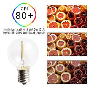 Image 2 - 25 PCS G40 E12 1 W LED Luzes Da Corda Lâmpada de Substituição 220 V 110 V Branco Quente 2700 K LED lâmpadas Substituir G40 5 W 7 W Lâmpadas Incandescentes
