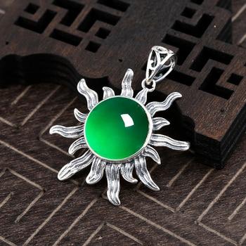 7b80b7c00e39 KJJEAXCMY joyas de boutique 925 de plata pura con incrustaciones de jade  natural chica colgante de joyería prueba de soporte