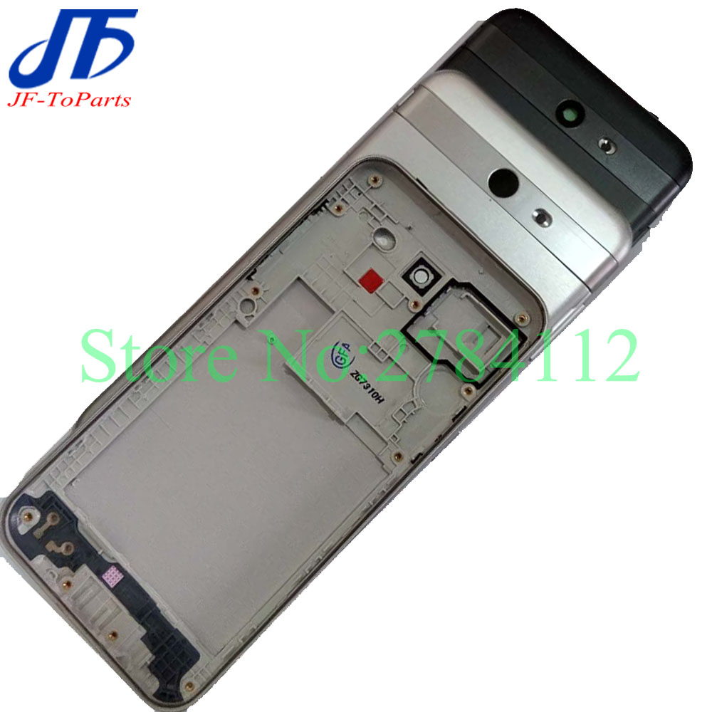 50Pcs Back Battery Rear Cover Replacement For Samsung Galaxy J3 J327 / J7 J727 2017 Housing Door Chassis with frame bezel
