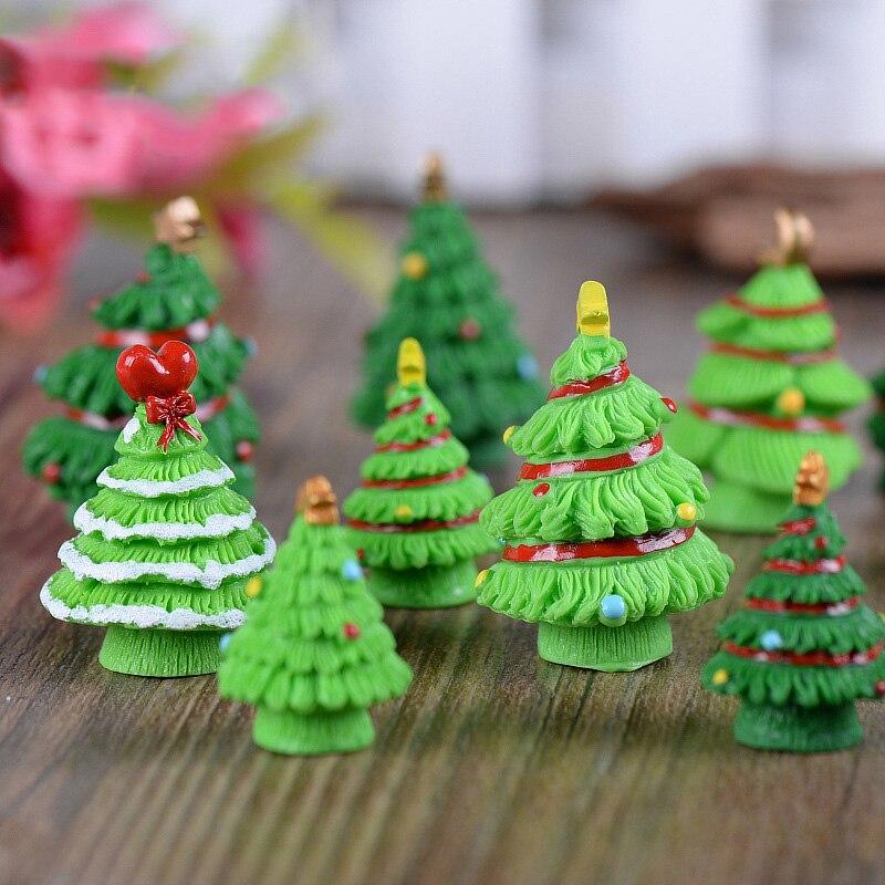 5pc Christmas Tree Miniature Figurine Mini Christmas