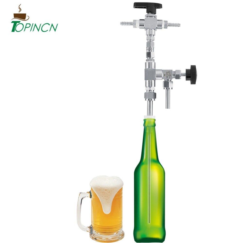 ステンレス鋼カウンター圧力ビールボトルフィラー自家製調節可能な圧力 Co2 ビール醸造キット  グループ上の ホーム&ガーデン からの 他のバーツール の中 1