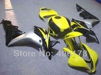 Лидер продаж, CBR 07 08 мотоцикл обтекатель для Honda CBR600RR F5 2007 2008 Race Bike желтый и черный тела Наборы (литья под давлением)