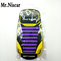 Mr Niscar Purple No Tie Shoelaces For Sneakers Elastic Silicone Shoe Lace Kids Men Women Silicone