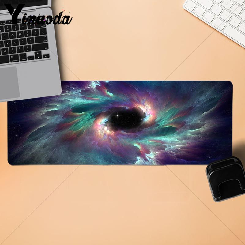 Yinuoda Space Colors Blue Purple Stars Gaming Player desk laptop Rubber Mouse Mat Gaming Mousepads large desk mat for dota 2 lol