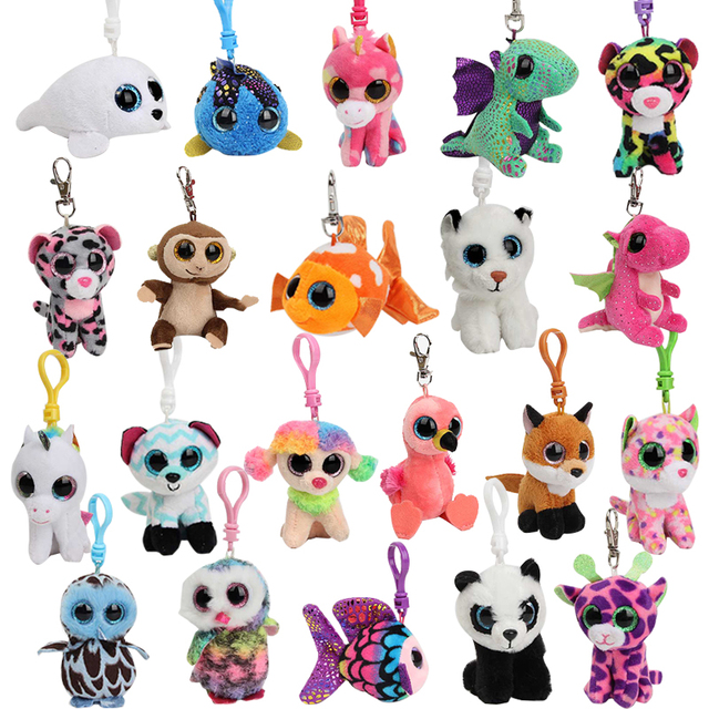 2018 Ty Cute animal Plush Stuffed Toys dog Unicorn panda tortoise deer tiger squishy Animals Soft Dolls for Kids Birthday Gifts
