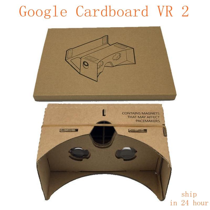 Hot selling  DIY Virtual Reality Glasses Google Cardboard VR Compatible Smartphone start a virtual  treality tour fast shipping