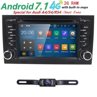 Quad Core 72 din car radio dvd gps Android 7.1 car multimedia player for Audi A4 S4 RS4 B6 B7 Seat Exto 2000 2012 SWC RDS Wifi