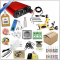 Professional completely mini tattoo machine kit, high quality tattoo power supply+needles+inks set