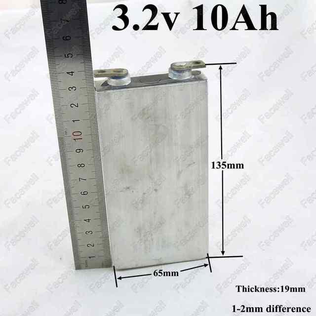4 шт. 3.2 В 10ah lifepo4 аккумулятор 10ah 3.2 В 30A разряда 10000 мАч сотовый алюминиевый корпус для 12 В 10ah батареи DIY блок питания инструменты