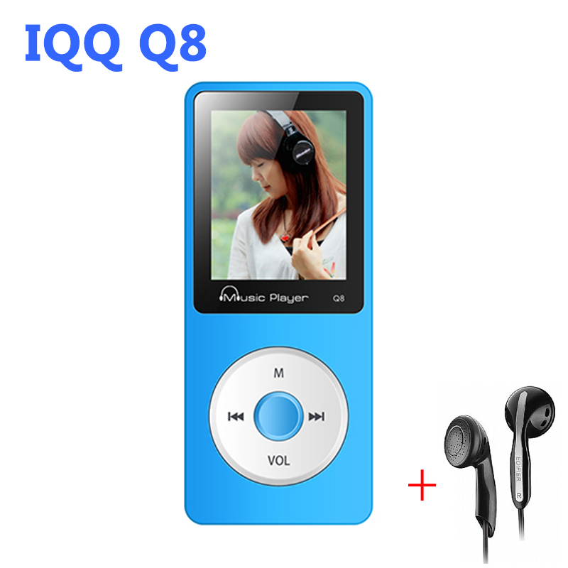 IQQ Q8 sport mp3 player with high quality lossless recorder mp3 music player radio fm Support