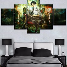 New 5 Piece HD Print Attack on Titan Anime Poster Painting Canvas Wall Art Picture Home Decoration Living Room