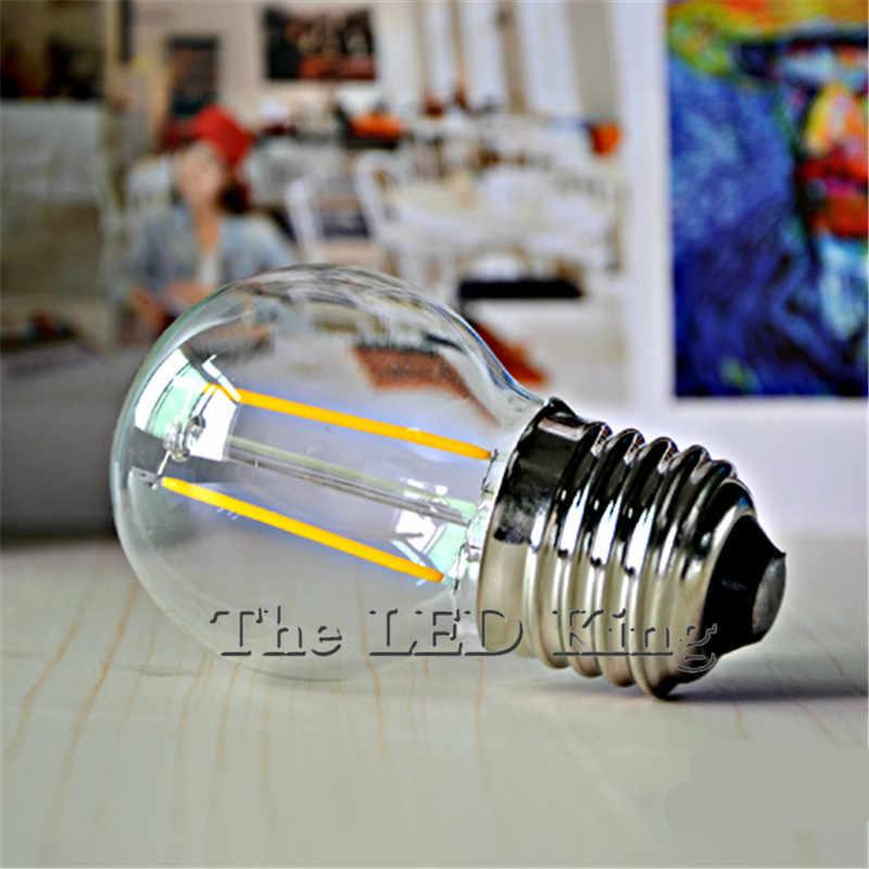 LED Filament lumière E27 E14 Vintage rétro LED Edison Ampoule lampe 6 W 8 W 18 W 220 V 240 V Lampada Ampoule Bombilla verre bougie lumière