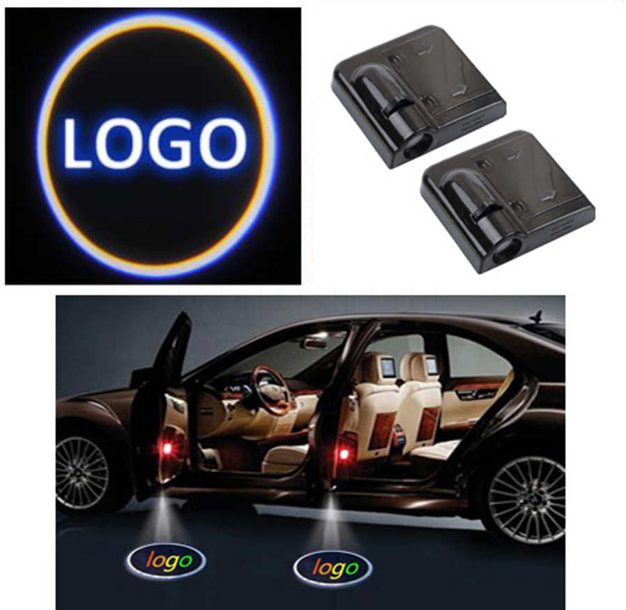 2pcs Wireless Car Door Welcome light LED Laser Projector Logo Ghost Shadow Light for VW Ford BMW Toyota universal courtesy lamp