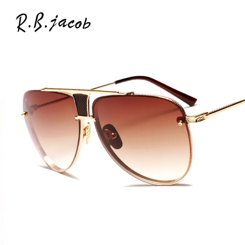 2017 New Fashion Men women Brand Designer Metal Sunglasses FeMale Lady UV400 Mirror Kim Kardashian Sun aviation Glasses