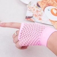 2017 Top Sell 1 Pair Summer Women's Fashion Sexy Elastics Fishnet Female Gloves Lace Fingerless Wrist Length Costume Mittens