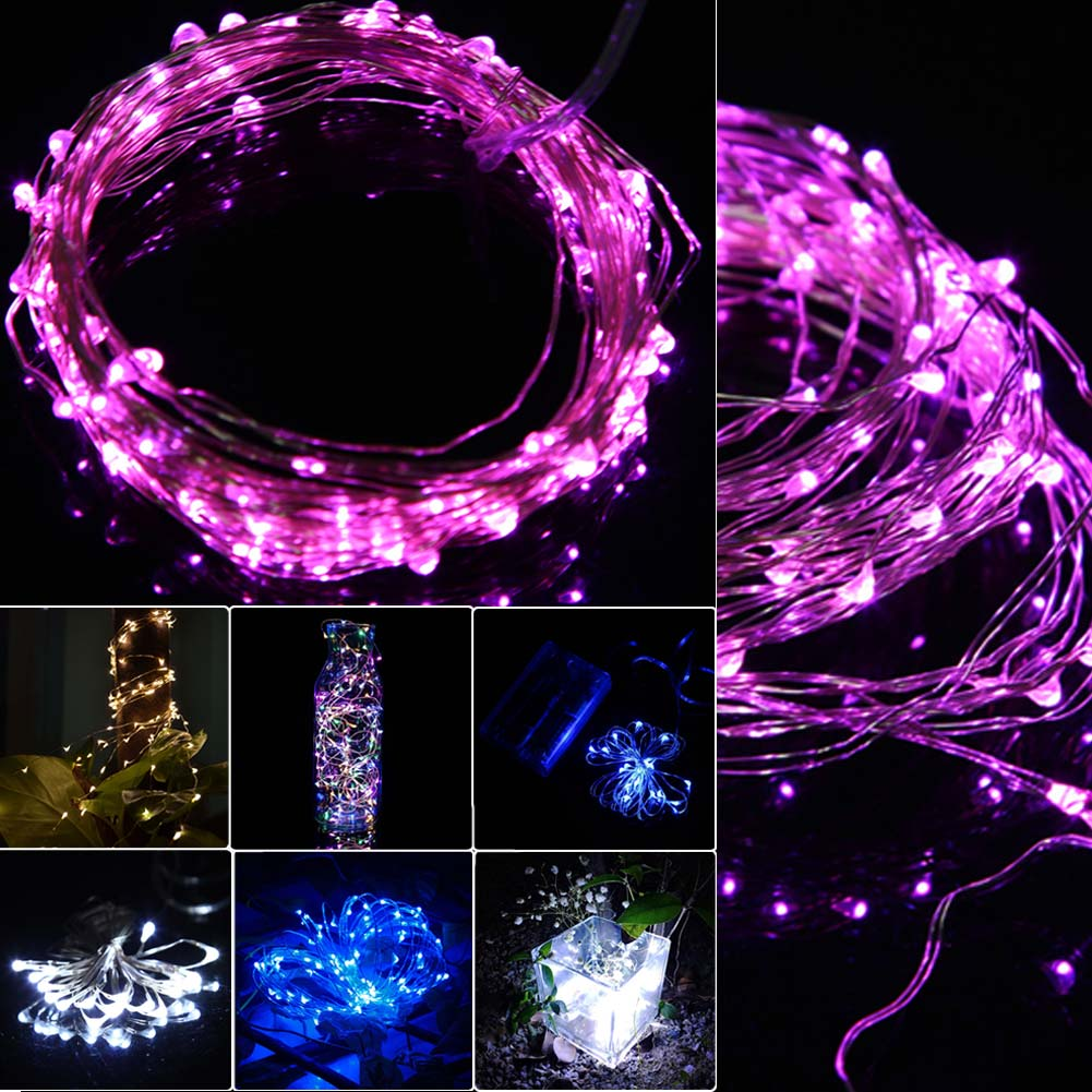 2M 20 LEDs Copper Wire Fairy String Light Lamp Christmas Holiday Wedding Party Garden Decoration Lights Hogard