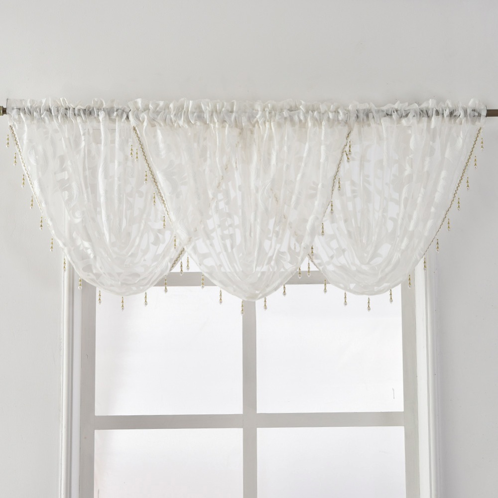 ivory zoom valances scarf loading valance curtain panel com curtainworks hampton sheer voile