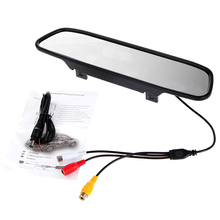 4.3″ Color TFT LCD Car Rearview Mirror Monitor for DVD Camera VCR