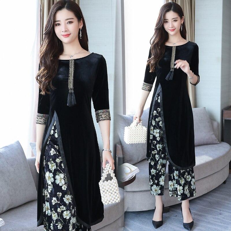 Spring Autumn India Pakistan Women Clothing New Design Europe Style Fashion 2 Pieces Sets Vintage Pattern Elegant Ethnic Costume Aliexpress