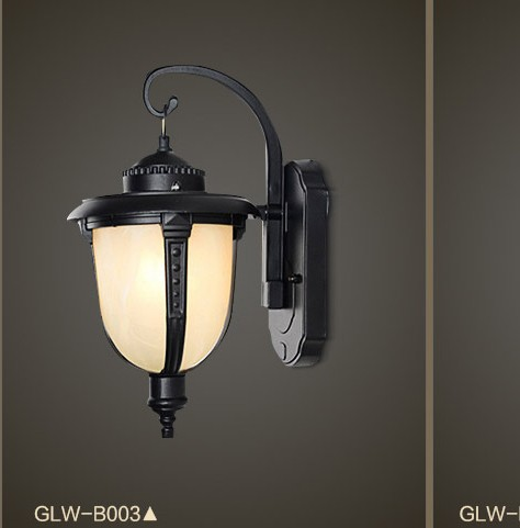 American Retro lampe de mur de LED mur extérieur éclairage applique Simple étanche mur du jardin de lumière verre lumières de porche Lampara
