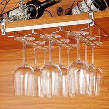 Нержавеющая сталь без гвоздей под шкаф подвесной винный Стеклянный Стеллаж кухонный бар стеклянный держатель для хранения стаканов стеллажи для дома Органайзер