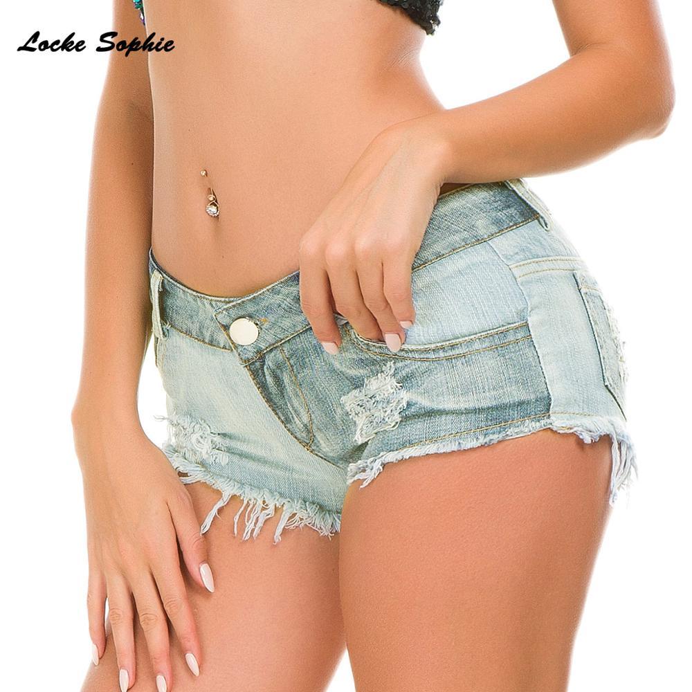 High Waist Sexy Women's Jeans Denim Shorts 2019 Summer Denim Splicing Broken Hole Shorts Ladies Skinny Super Short Jeans Girls