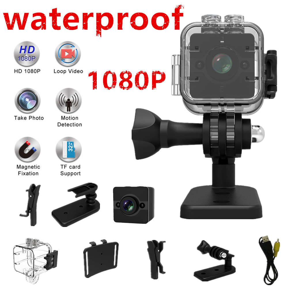 SQ12 mini cámara impermeable grados lente gran angular HD 1080 p gran angular sQ 12 mini videocámara DVR SQ12 cámara de vídeo del deporte