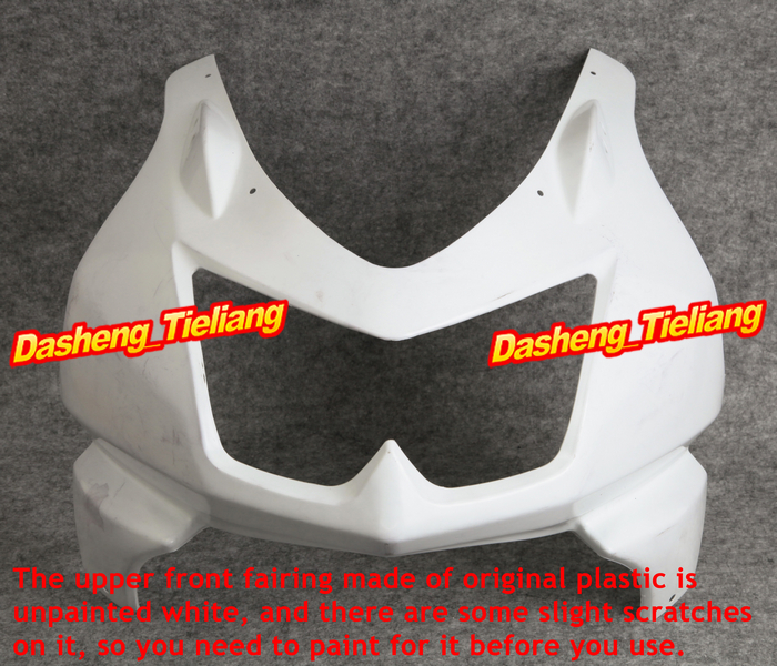 Unpainted Upper Front Fairing Cowl Nose for Kawasaki 2008 2009 2010 2011 2012 250R EX250, ABS Plastic