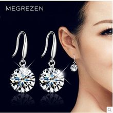 Beautiful Crystal Drop Earrings Wedding For Women Fashion Bridal Dangle Zircons Earrings With White Stones Summer