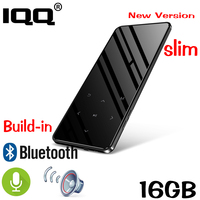 MP4 player with bluetooth Metal touch screen MP3 player Bulit in 16GB and Speaker HIFI Lossess Portable Slim MP3 player with FM