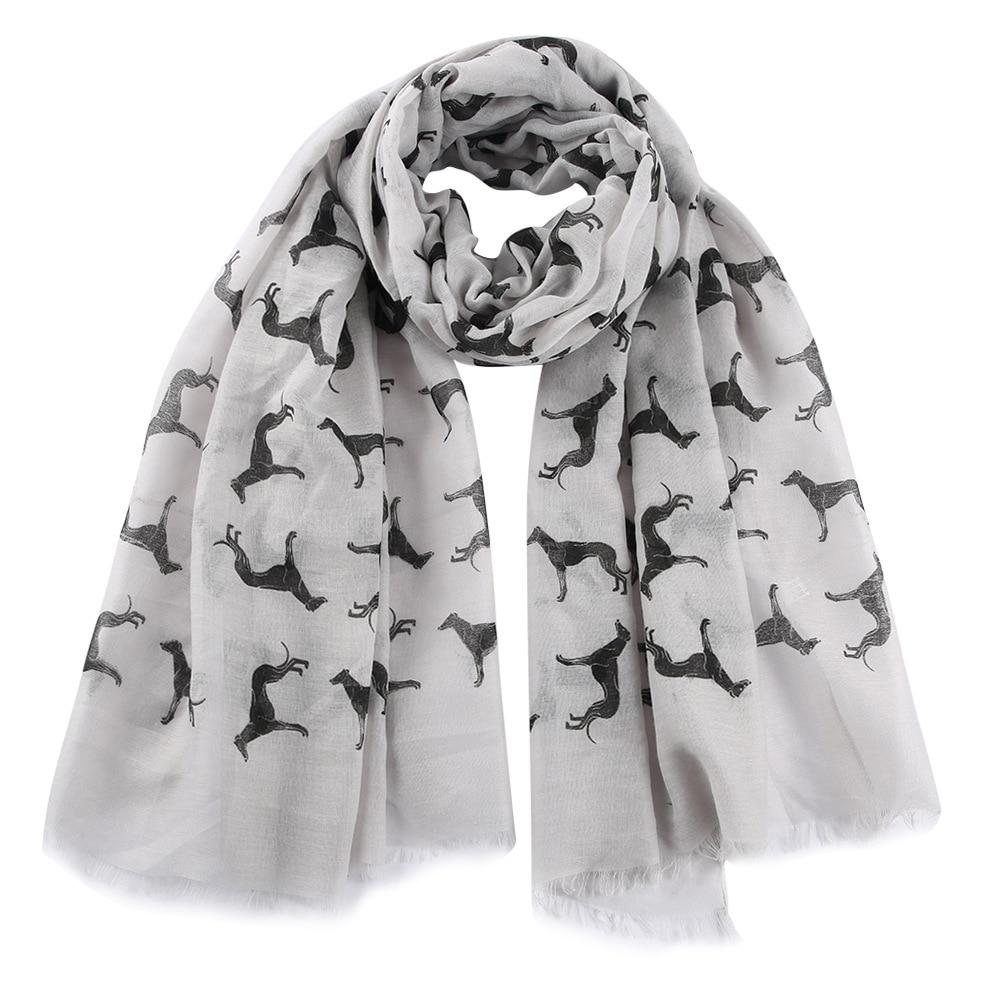Fashion Dog Print Scarves Shawls Cute Animal Fringe Scarf Shawls Wrap Hijab 5 Color Free Shipping