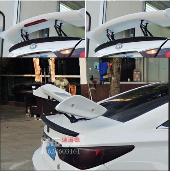 JIOYNG ABS noir non peint universalité berline trois-boîte voiture aileron arrière aile coffre lèvre Auto voiture lèvre Spoiler 1968-2018