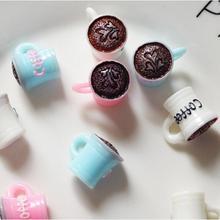 10 X Kişilik Yaratıcı Kahve Kupası Anahtarlık Süsler Candytoy Telefonu DIY Abartma Craft Saç Süsler DIY Aksesuarları