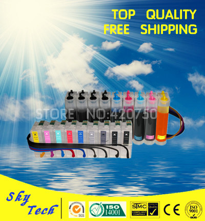 Full pigment CISS suit for Eposn R3000 , continuous ink sysytem suit  for T1571 - T1579 , with ARC chips 5pk full ink refillable cartridges suit for bci325 bci326 suit for canon ip4830 ip4930 ix6530 mx883 mg5130 6230 with arc chips