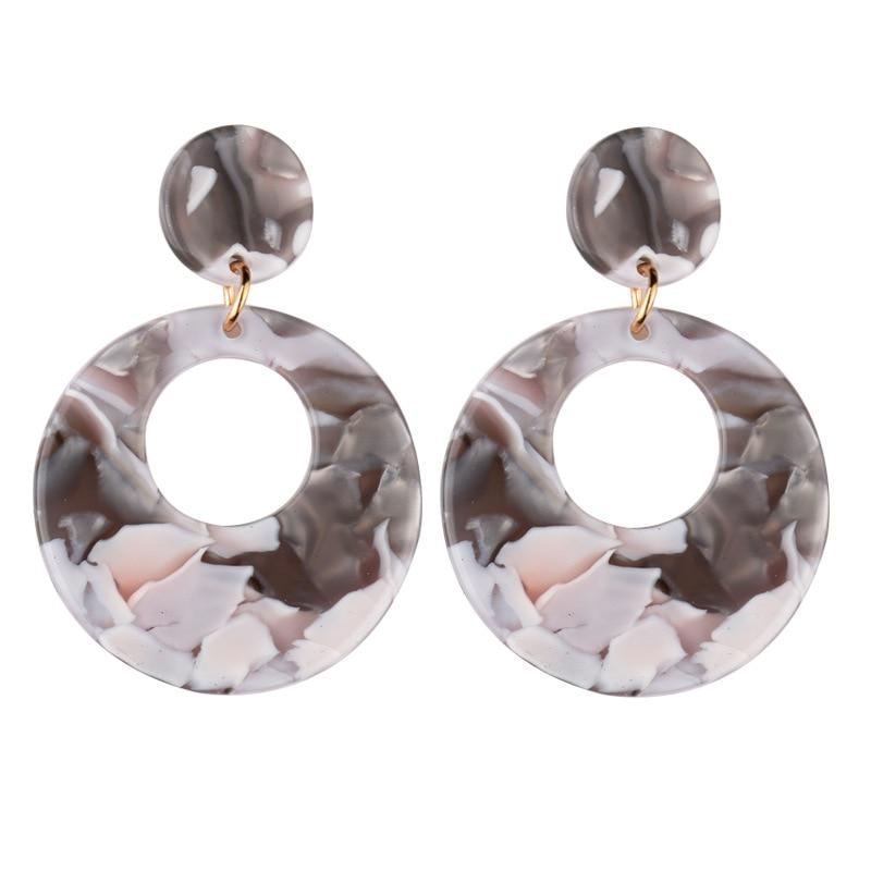 Acrylic Drop Earrings A159-2