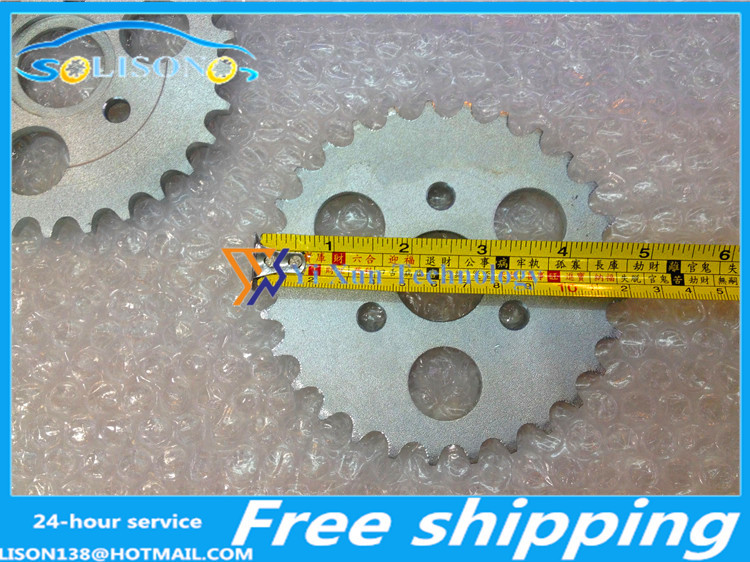 Variomat & Parts Cheap Price Starpad For Small Monkey Motorcycle Accessories 420-293137 Tooth Sprocket Gear Tooth Plate With Three Holes Free Shipping,2pcs Automobiles & Motorcycles