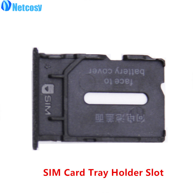Netcosy New Black <font><b>SIM</b></font> Card Tray Replacement Parts <font><b>SIM</b></font> Card <font><b>Slot</b></font> Holder for Oneplus One 1+ A0001 Free shipping image