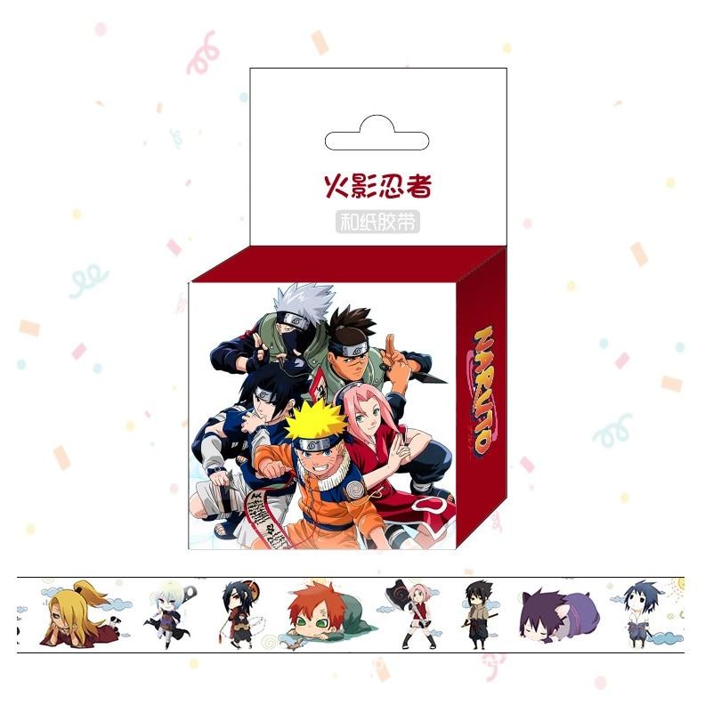 1.5cm*5m Anime Naruto Washi Tape Adhesive Tape DIY Scrapbooking Sticker Label Masking Tape цена