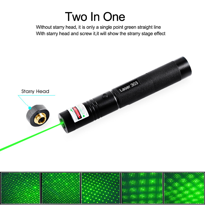 Laser Pointer High Power Laser Pointer Rechargeable 18650 Battery 532nm 303 Green Laser Pointer Pen Adjustable Burning Match in Lasers from Sports Entertainment
