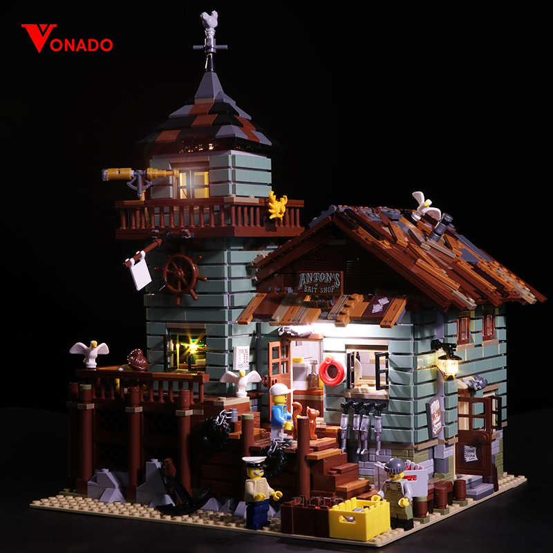 Led Light Set For Lego 21310 Building Blocks Creator City Street Compatible 16050 Old Fishing Store Toys(light with Battery box)
